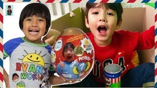 I Mailed Myself to Ryan's Toys Review for Ryan's World Golden Egg and It Works   Pretend Play