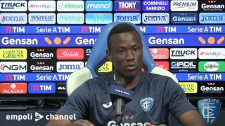 Mame Baba Thiam in conferenza stampa