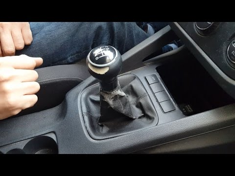 How to remove gear shift knob gaitor boot VW Golf  Mk5. Jetta in 5 simple steps