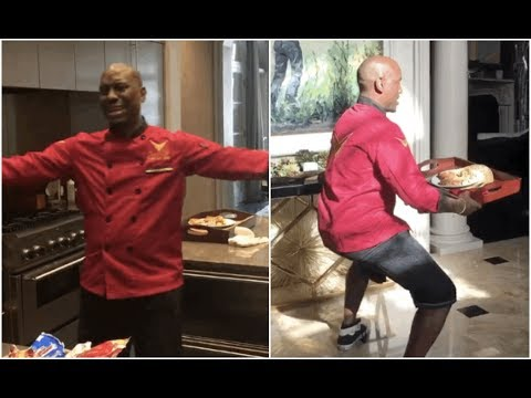 Tyrese Crying Again Starts Twerking While Cooking Breakfast For Wife