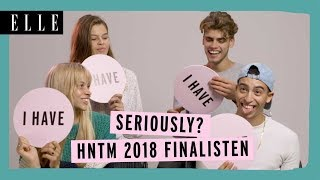 HNTM finalisten spelen Never Have I Ever | ELLE