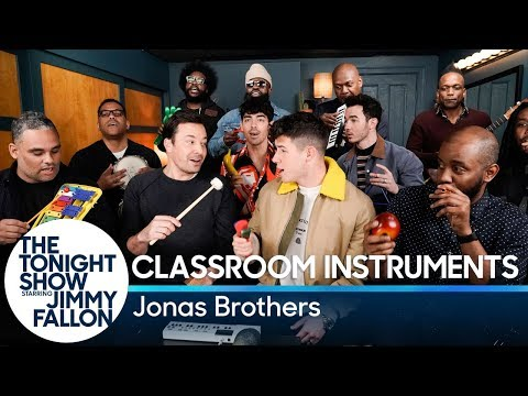Download Jimmy Fallon Jonas Brothers amp The Roots Sing quotSuckerquot Classroom Instruments