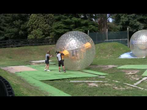 Dry Zorbing in Rotorua, New Zealand (Zorbit)