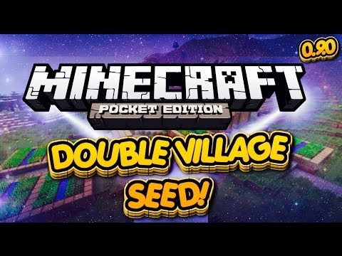 (0.9.0) Minecraft Pocket Edition - Double Village Seed With Blacksmith! (SeedReview)