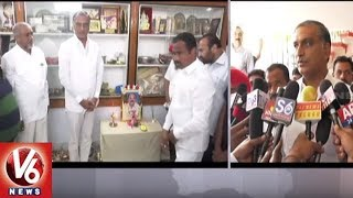 Minister Harish Rao Pays Tributes To Karimnagar Ex MLA Katari Devender