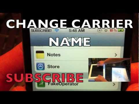 CHANGE CARRIER NAME IPHONE 4S 4 3GS 3G IPOD TOUCH 4G IPAD