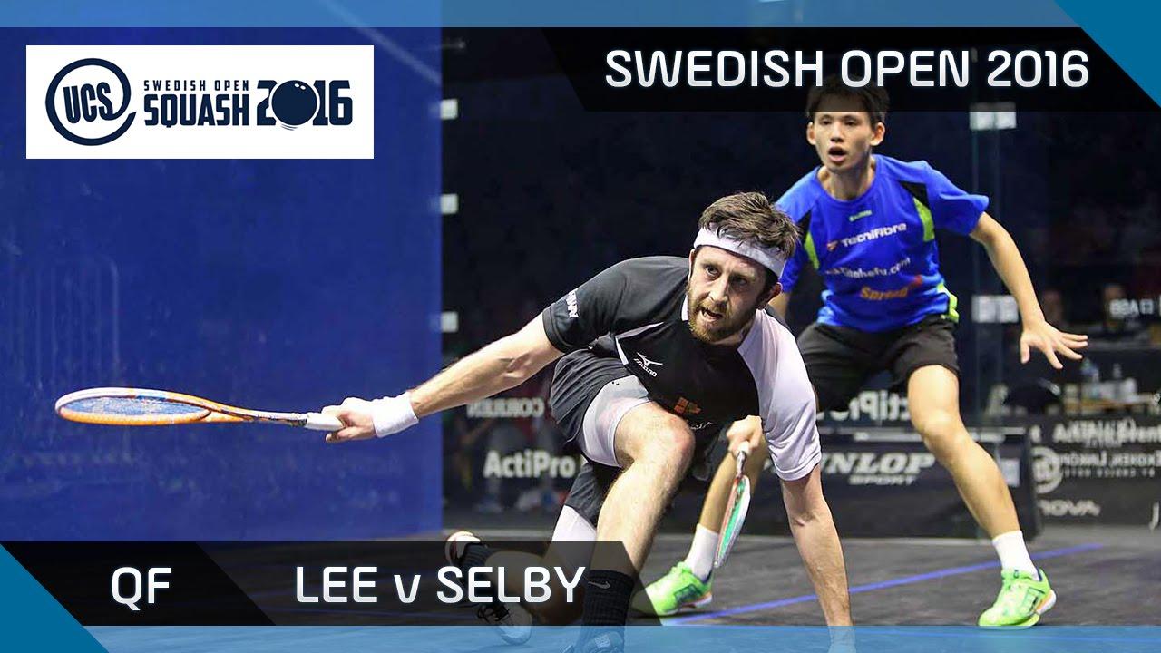 Squash: Lee v Selby - UCS Swedish Open 2016 - QF Highlights