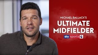 Which players make up Michael Ballack's Ultimate Midfielder?