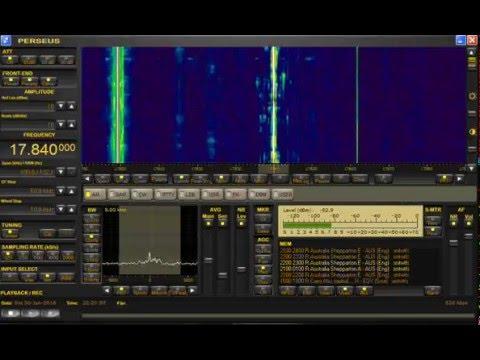 Radio Australia (English) 17.840 MHz Shortwave - Perseus SDR + Wellbrook