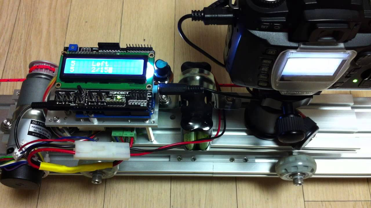 Diy Motorized Dolly For Timelapse 4th Test Arduino