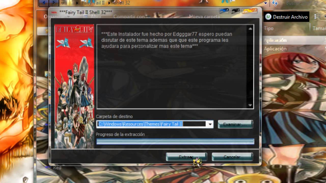 Fairy Tail Skins Windows 8 Temas de Fairy Tail Skins