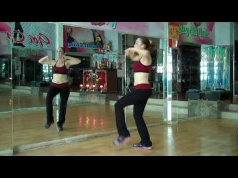 aerobics the duc  tham my happy new year  gangnam style cam tuyet