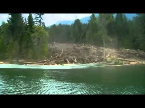 BBC News   Landslide in Canadian British Columbia caught on camera