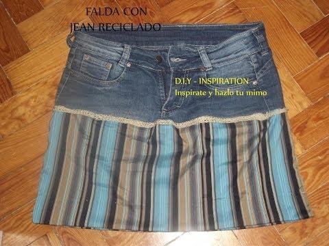 DIY: FALDA CON JEAN RECICLADO