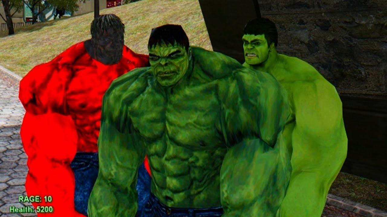 Green Hulk Red Hulk Red Hulk Green Hulk's vs