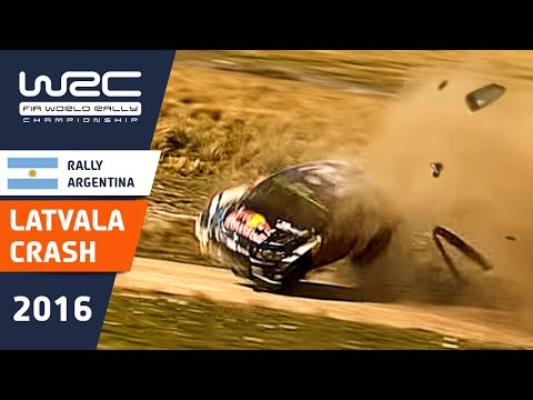 WRC - YPF Rally Argentina 2016: Spectacular CRASH Jari-Matti Latvala on SS14
