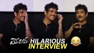 Nagarjuna Hilarious interview about Devadas Movie | Hero Nani | Rasmika | Filmylooks