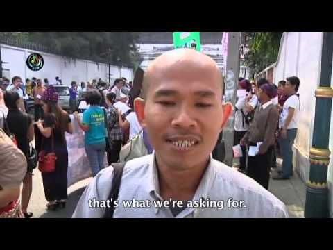 Bangkok protest to stop Kachin war