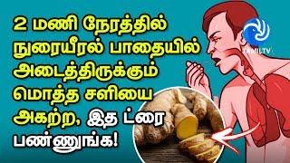 2 மணி நேரத்தில் நுரையீரல் பாதையில் அடைத்திருக்கும் மொத்த சளியை அகற்ற, இத ட்ரை பண்ணுங்க! – Tamil TV