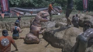 T-Rex Runs Through Tough Mudder Course
