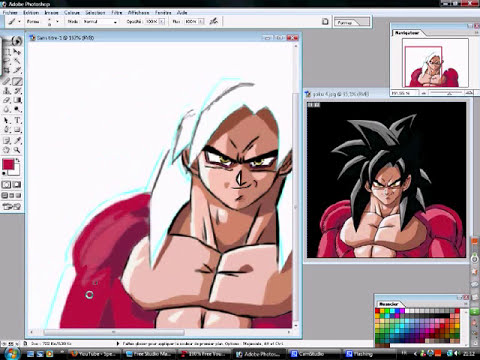 goku ssj4  speed painting