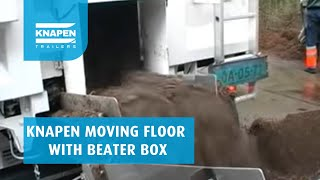 Knapen Trailers moving floor with beater box