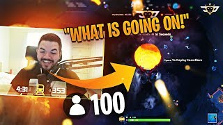 100 PEOPLE DROP VOLCANO! This is what happened... (Fortnite: Battle Royale)