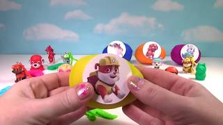 15 Paw Patrol Toy Play Doh Surprise Eggs: Mashems and Keychains  from Fizzy Toy Show