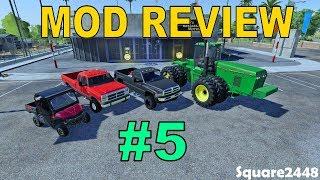 Farming Simulator 19 Mod Review #5 1st & 2nd Gen Dodges, JD Tractor, UTV, Placeable Lights & Silo