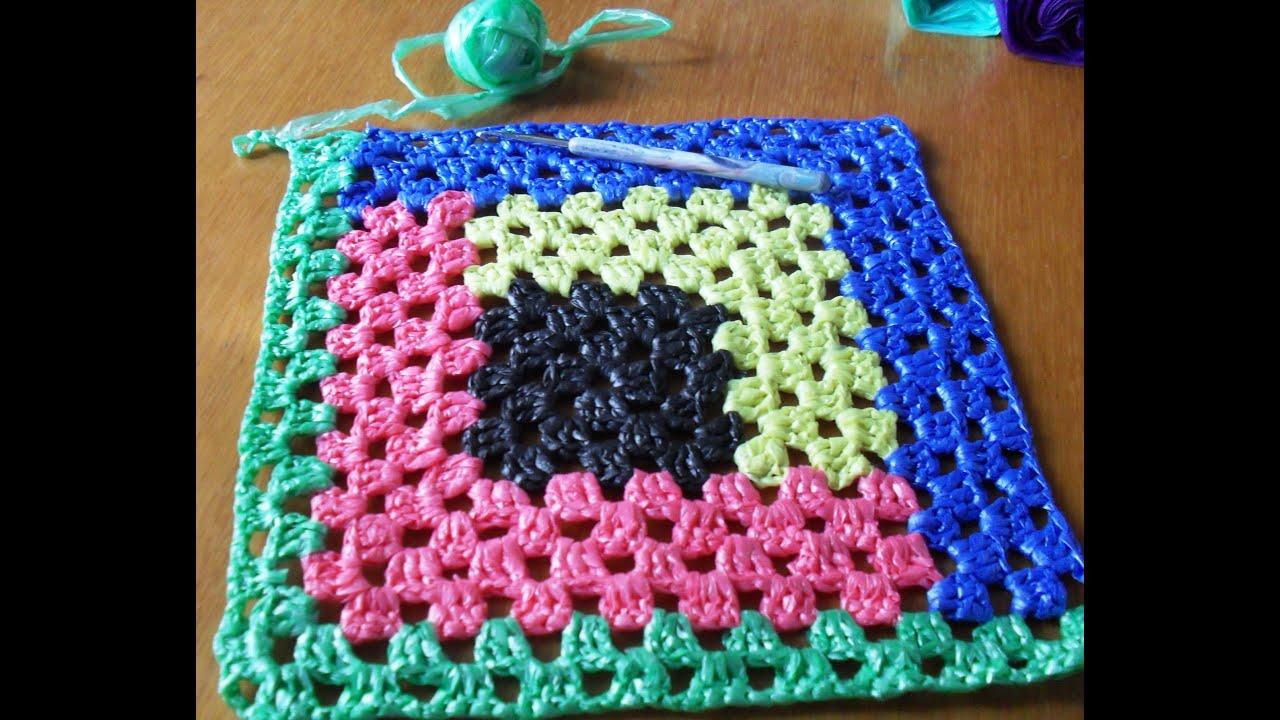 Вязание крючком прямоугольных ковриков 28