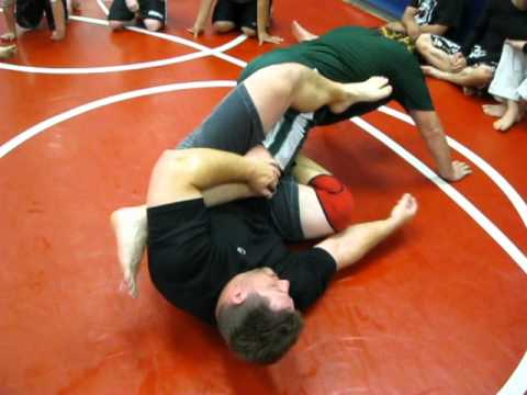 Modesto Grappling Club Instr. #130:  Mount Escape to Heel Hook Image 1