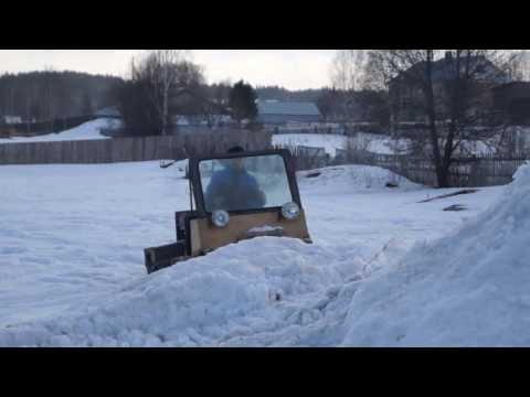 Самодельный вездеход, снегоход Юрья