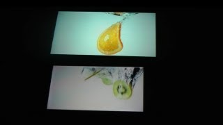 Sony Xperia S vs. Samsung Galaxy Note Display Screen Test Sample Video HD