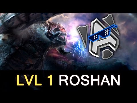 Alliance level 1 Roshan before creeps vs Empire — Dota 2