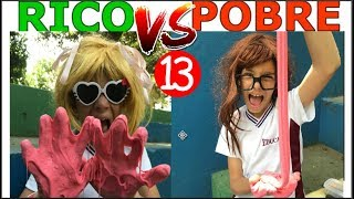 RICO VS POBRE FAZENDO AMOEBA / SLIME #13