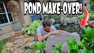 HOME POND MAKEOVER ON THE RANCH!!!!