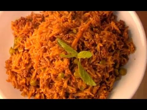 Kheema Matar Biryani (Minced Meat and Pea Biryani)