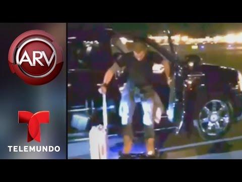 Al Rojo Vivo   Casper Smart se cae de una patineta rumbo a un avión   Telemundo ARV