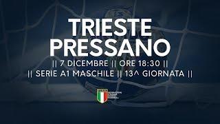 Serie A1M [13^]: Trieste - Pressano 18-21