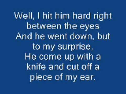 Johnny Cash - Boy Named Sue - Live - With Lyrics Music Videos
