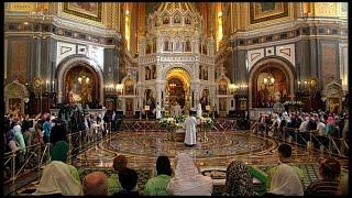 Божественная литургия 6 января 2021 г., Храм Христа Спасителя, г. Москва