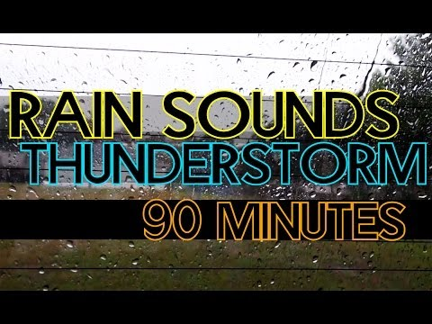 Rain and Thunder Storm 90 Minutes - Fall Asleep Fast HD 1080p Florida Thunderstorm