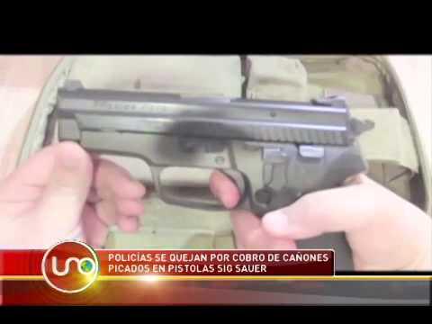 Policías se quejan por cobro de cañones picados en pistolas Sig Sauer