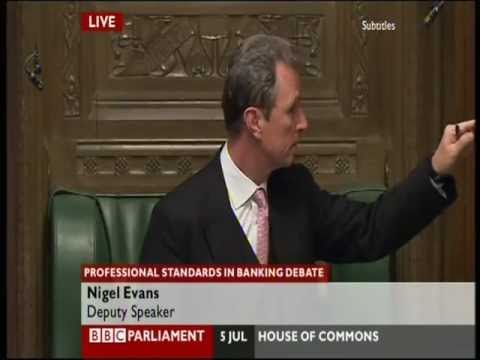 House of Commons - all hell breaks - Nigel Evans roars!