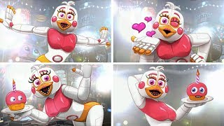 All FUNTIME CHICA Distractions in Ultimate Custom Night