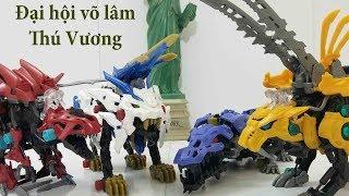 ZOIDS đồ chơi Thú Vương Đại Chiến   wild liger fang tiger gilraptor gabrigator tranh tài