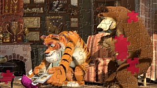 Masha and the Bear Puzzle Game for Kids - Visit From Mr Tiger