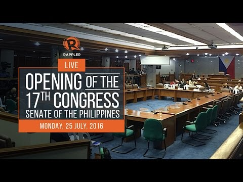 LIVE: Opening of the 17th Congress, Senate of the Philippines