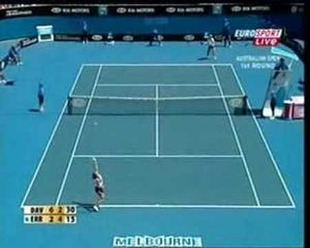 sara errani best shots - vs Davenport