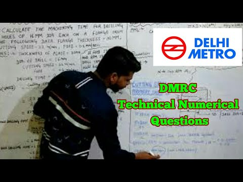 DMRC Questions Paper Questions Topic Cutting Speed,Feed, RPM and Machining Time.